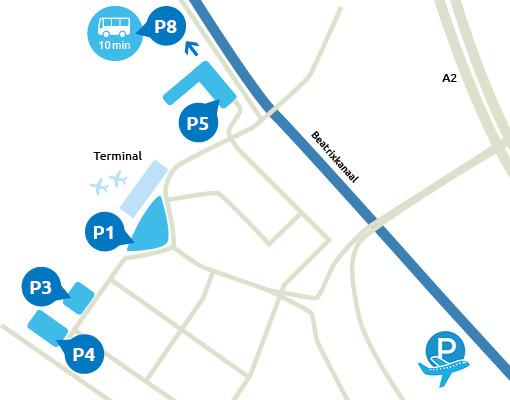 Parkeermogelijkheden bij Eindhoven Airport