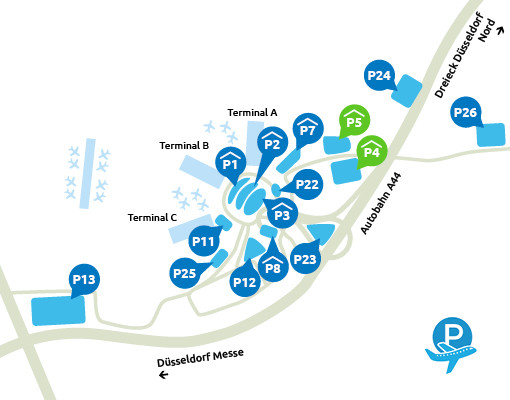 P4 en P5 Dusseldorf Airport
