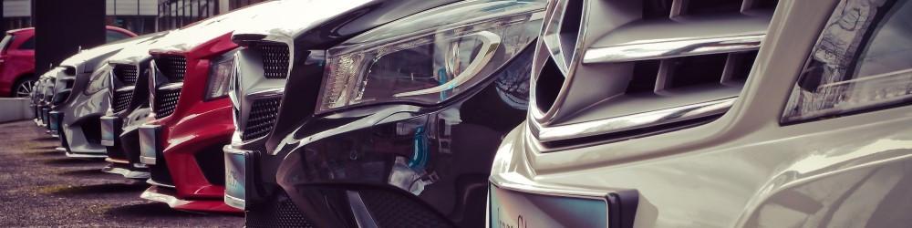 Mercedessen op een rij