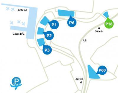 Airport-Zürich-parken-P16