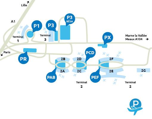 Parking_Roissy_aeroport_plan