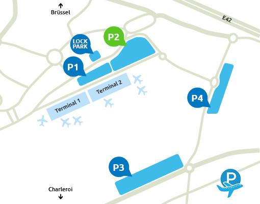 Plattegrond P2 Charleroi