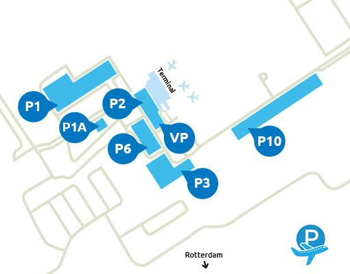 Parkeeroverzicht Rotterdam Airport