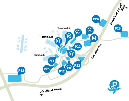 Parkeeroverzicht Dusseldorf Airport