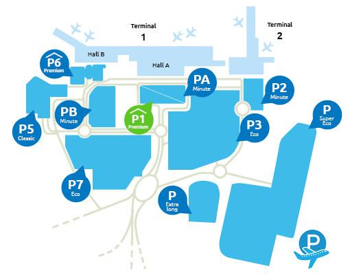 Airport-Marseille-parking-P1-Premium