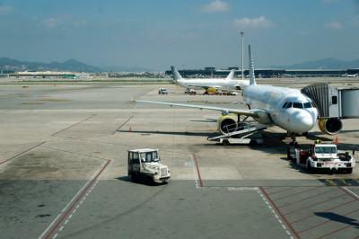Flughafen-Einsteig