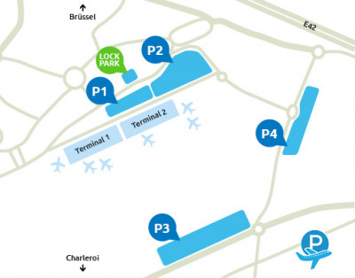 Airport-Charleroi-parking-Lock-Park