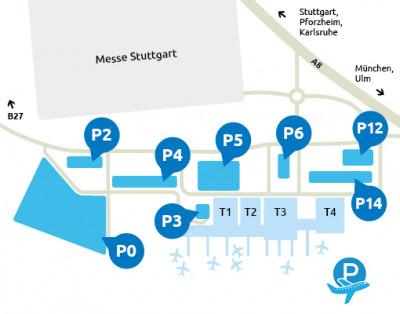 Flughafen-Stuttgart-parken-Plan