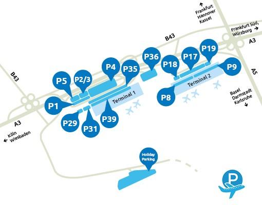 Parken-Flughafen-Frankfurt-Karte
