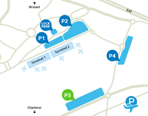 Plattegrond Charleroi Airport