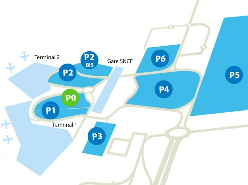 Airport parking Lyon - P0