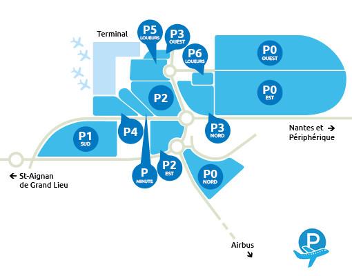 Plan Parking Aéroport Nantes