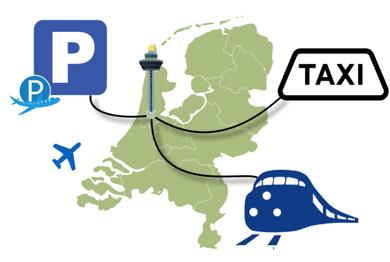 Reizen naar Schiphol