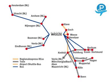 Reizen naar Weeze Airport