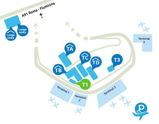 mappa-parcheggio-fiumicino-terminal-1