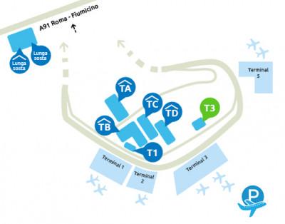 mappa-parcheggio-fiumicino-terminal-3