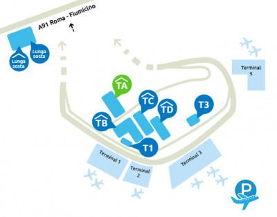 mappa-parcheggio-fiumicino-terminal-A