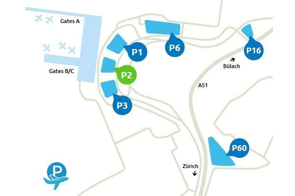 Plan Parking P2 Aeroport Zurich